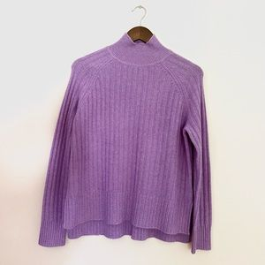 Mark's & Spencer Autograph Pure Cashmere Cowl Neck Knit Sweater in Mauve
